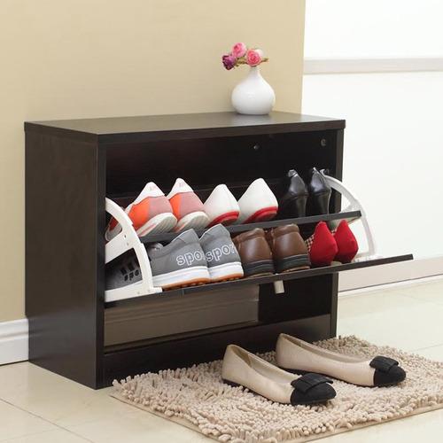 Mueble organizador de zapatos negro 2 niveles rebajas - Muebles de zapatos ...