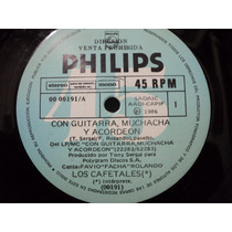 Disco Simple Los Cafetales Con Guitarra Muchacha Y Acordeon
