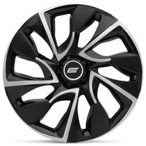 Calota Esportiva Ds4 Black Silver 13 Universal Encaixe Preta