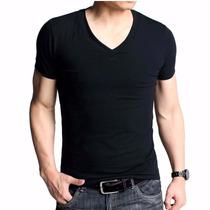 Franelas De Caballero Cuello V Franelas Slim Fit Camisetas