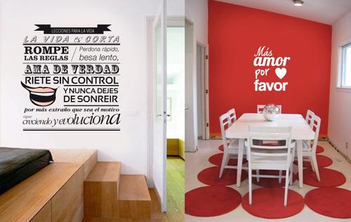 Vinilos frases y decoraciones en paredes dise os nuevos for Ideas para decorar paredes de cocina
