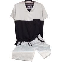 Pijama Eyelit Manga Corta Pantalon Corto 100% Algodon Dor