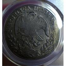 Moneda México 8 Reales 1861 San Luis Potosí Ps Certificada