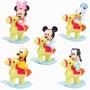 Set Disney Mickey Donald Minnie Pluto Tribilin Bebe Cabalgan
