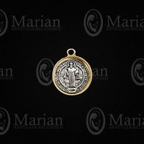 Medalla De San Benito Filo Oro Paquete D 12pz A Solo $47.00