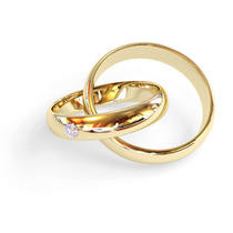 Alianças Anatômicas 8mm Banhadas Ouro Pedra Zircônia