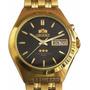 Relogio Orient Automatico Dourado Crystal 21 Jewels