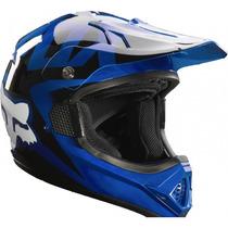 Casco Fox Vf-1 Azul 2015 Moto !! Talla M