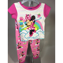 Pijama Niña Disney Mimi Mouse Algodon Termica 24 Mese 2 Años
