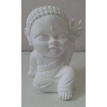 Buda Bebe Decorativo De Yeso Mediano 20cms P/pintar