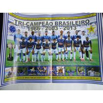 Poster Cruzeiro Tricampeão Brasileiro 2013