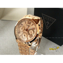 Relogio Guess Feminino Original 92521 - Grande 44 Mm Rose