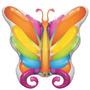 Globo Metalizado Mariposa - Feliz Cumpleaños De 14 Pulgadas