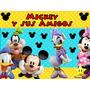 Kit Imprimible Mickey Y Sus Amigos Diseñá Tarjeta Cumple 2x1