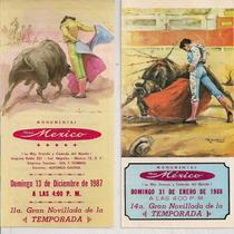 Toros Plaza México Lote Programas Y Boletos 1987-88