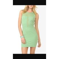 Vestido Corto Forever 21 Talla Grande L Verde Menta
