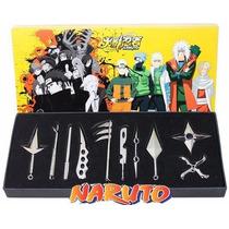 Kit Naruto 10pc Metal Brinquedo Faca Espada De Naruto Kunai
