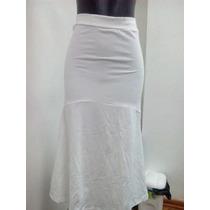 Santeria, Falda Blanca Para Damas En Algodon