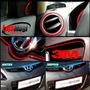 Fita Friso Decorativo 3d Carro Interior Vermelha