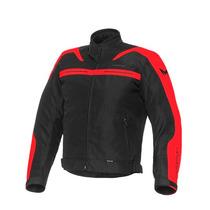Campera Motorman Rocky Black Red Rojo Urquiza Motos