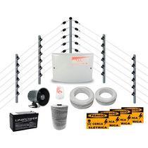Kit Cerca Elétrica Industrial C/ Big Hastes Completa P/ 80m