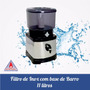 Filtro De 11 Litros De Água De Inox Com Base De Barro