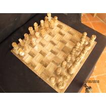 Ajedrez De Onix De 35x35 Cms Y Jgo Onix Gato Envio Gratis