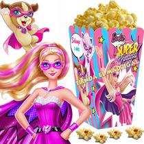 Kit Imprimible Barbie Super Princesa Cotillon Candy Bar 2x1