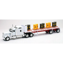 Trailer Kenwhort W900 C / Barriles New Ray Esc. 1/32 Nuevo