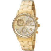Relógio Seculus Feminino Cronograph 48053lpsfds2