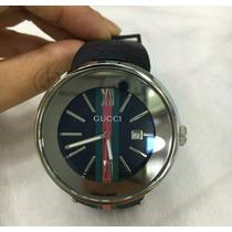 Relógio Gucci Cromado Analógico Fundo Misto
