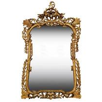 Espelho De Cristal Grande Design Classico Europeu