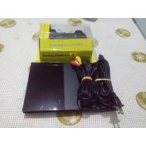 Ps2 Slim Leitor Novo+cabos E 1controle E 5 Jogos.
