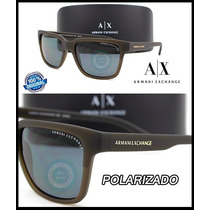 Armani Exchange Ax4026s-812181 Olive Matte Grey Polarizado