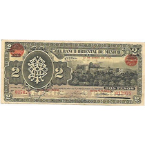 Puebla 2 Pesos 1914 Revolucion Sv9