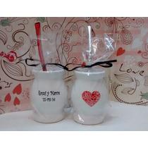 Souvenirs Mates Tazas Casamiento 15 Años Vidrio Ceramica