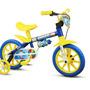 Bicicleta Infantil Nathor Aro 12 Amar-azul Shark Masculino