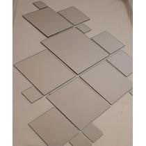 Kit 20 Espejos Cuadrados / Baño, Living, Comedor, Oficina