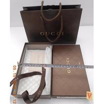 Gucci Caja Original P/diversos 21x12x5 Cm. C/bolsa De Asa,