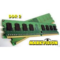 Memória Ram Markvision 2gb Ddr2 800mhz - Frete Gratis
