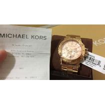 Relogio Michael Kors Gold Rose Importado Usa Original Mk5314
