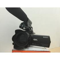 Cámara Sony Ax33 Video 4k Y Fullhd, Micro Externo Y Bateria