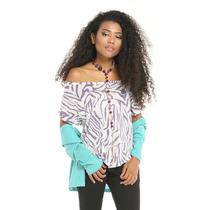 Franela De Zebra Morada Saints Clothes