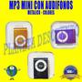 Mp3 Mini Con Audifonos Metalico Colores