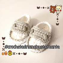 Mocasines Bebés Crochet Tejidos