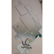 Kit 15 Espejos Cuadrados / Baño, Living, Comedor, Oficina