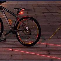 10 Pzas Luz Trasera Bicicleta Lampara Laser Indicador Carril