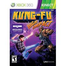 Kinect Kung Fu High Impact - Xbox 360 - Usado - Madgames
