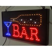 Letrero De Led Bar Con Copa Y Efectos Led E-luminex