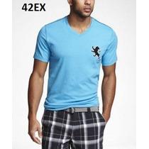 S, L - Playera Express Azul Ropa De Hombre 100% Original
